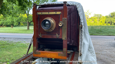 1889 Eastman Dry Plate & Film Co. 5x7 View Camera with Dallmeyer No. 2 Stigmatic Series II F6 Lens