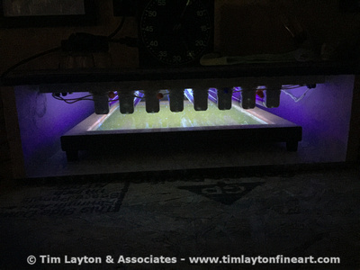 My new platinum printing UV system that I built for the St. Francois Mtn project