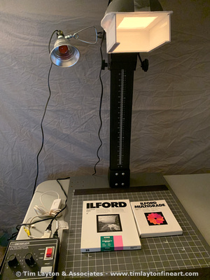 Simple B&W Contact Printing Light Source with Ilford Variable Contrast Filter by Tim Layton