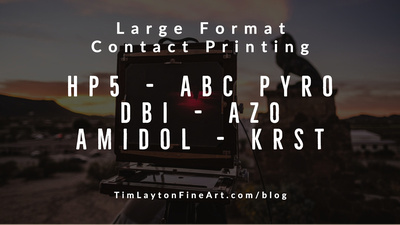 Large Format Silver Chloride Contact Printing by Tim Layton