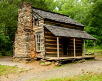 John Oliver's Cabin - Cades Cove, Great Smoky Mountains Color by Tim Layton