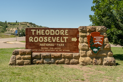 Theodore Roosevelt National Park Entry Sign