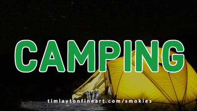 Camping in the Great Smoky Mountains National Park by Tim Layton
