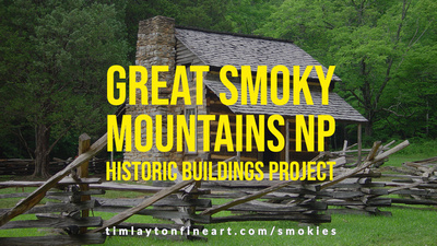 Great Smoky Mountains National Park Platinum Print Historic Buildings Project by Tim Layton