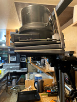 Side View of 45MX Besler Enlarger With Zone VI Cold Light Head
