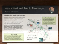 Ozark National Riverways Sign