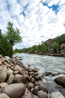Rocky Mountinas - Arkansas River - Morning Light - Colorado