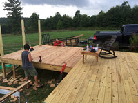 Building a 12x12 Extension on the 14x40 Deck
