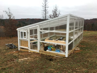 The Greenhouse is Finished Before Winter!