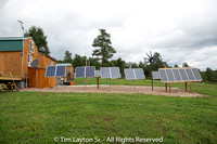 My Solar Panels at my Tiny House Cabin.