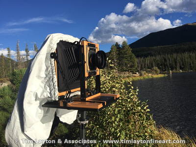 Working with my large format 8x10 view camera in the Rocky Mountains