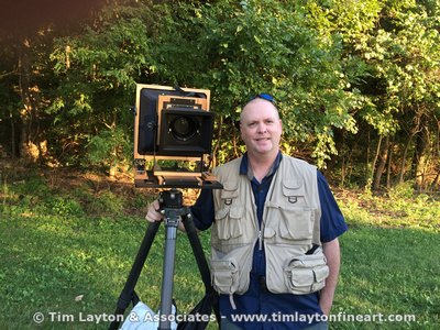 Tim Sr. with his 8x10 Large Format View Camera