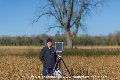 In the field with my 8x10 (photo by Craig Spradling)
