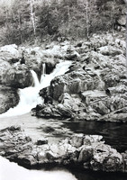 Rocky Creek Falls at Klepzig Mill (Vertical) - Ozark Mountains