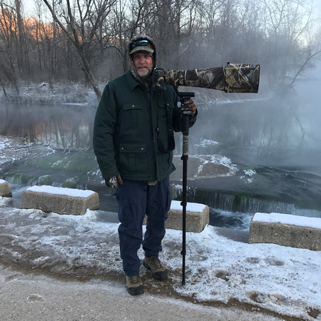 It was -4F (-20C) at sunrise photographing Bald Eagles
