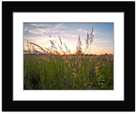 Prarie Sunset - With Sample Mat & Frame