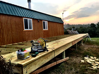 Building a new 14x40 Deck at my Cabin