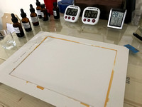 Step 1 - Laying Out The Hahnemühle Platinum Rag Paper For Coating