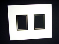 8x10 White with Black Under Mat - 2 ACEO windows