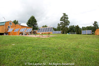 A Wide View of the Solar Panels at My House, Tim Jr's and the Darkroom Building.
