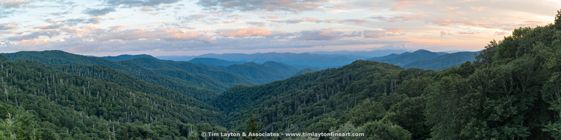 Panorama - Great Smoky Mountains Scenic Vista Along Newfound Gap.