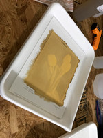 Step 6 - Preparing the exposed print for development.