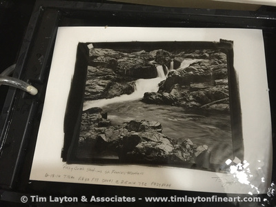 Rocky Creek Shut-ins in St. Francois Mountains - Artist Proof #1 - In Wash Tray