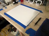 Step 1 - Setting up the Hahnemühle Platinum Rag Paper for coating.