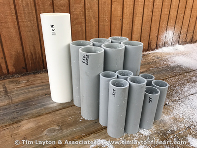 Making development tubes for large format film from PVC pipe